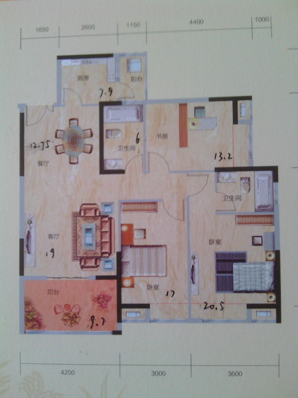 这是我房子的平面图高清图片