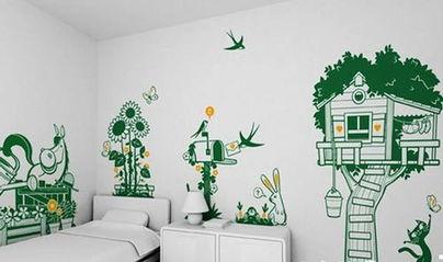 儿童手工制作树叶壁画
