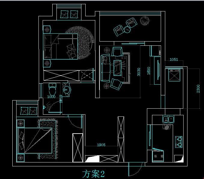 2米x2米卫生间设计图