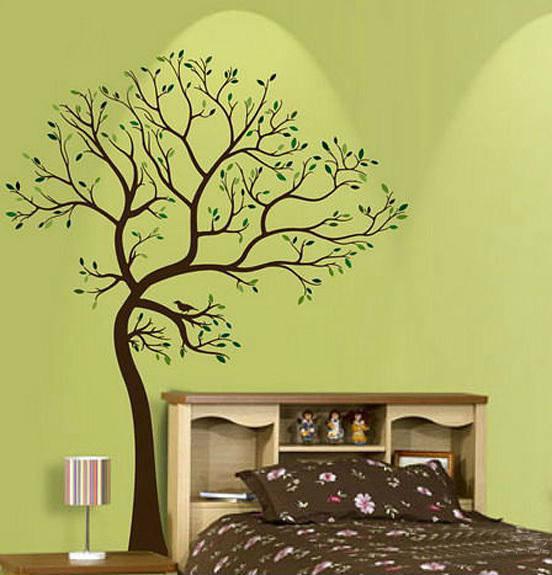 现代简约动物森林墙绘素材