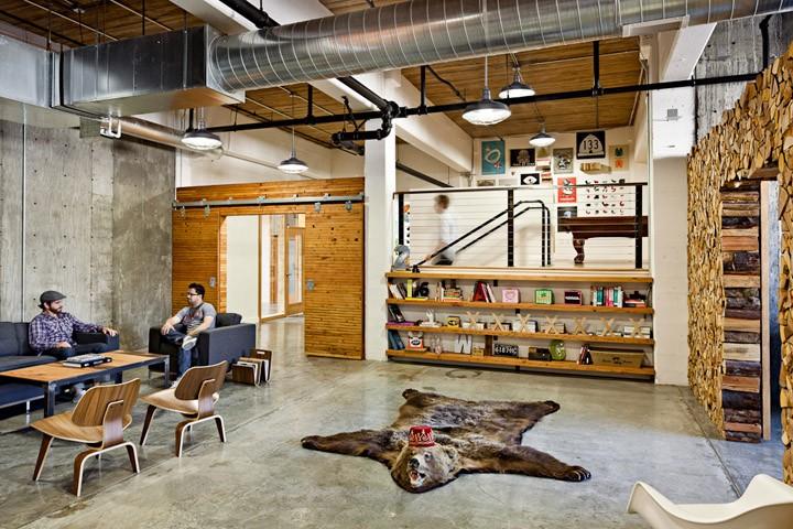 建e室内设计网工业风办公室案例欣赏