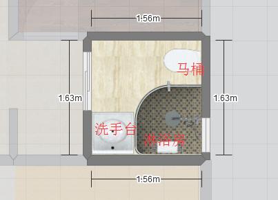 卫生间马桶该如何放?求助!