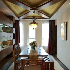 美式餐厅吊顶装修图
