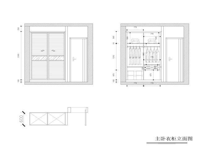 這個是陽臺柜子的立面圖,原先圖紙里沒有設計抽屜,后來臨時改要2個大圖片