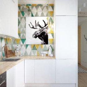 北欧厨房背景墙装修图