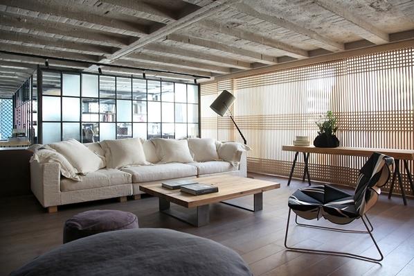 loft风格家庭办公室图片