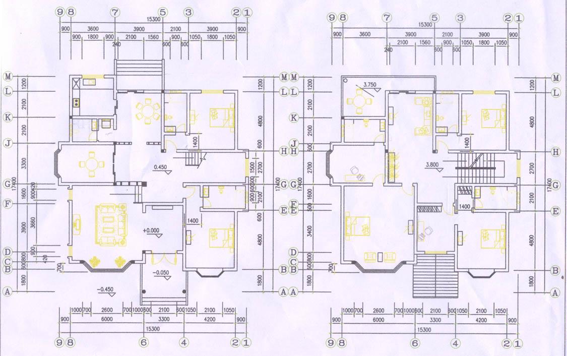 求180平米左右3层或两层单户别墅的设计图纸,在14m*13