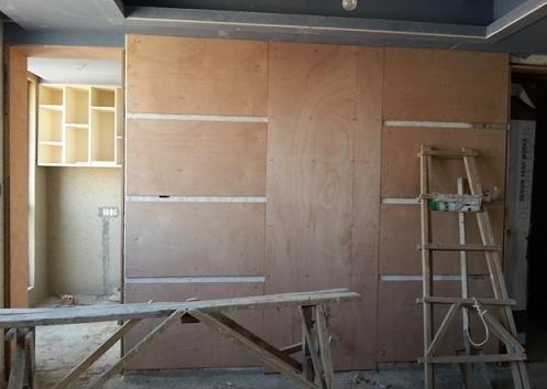 16 日,做防水,贴磁砖,木工做了飘窗榻榻米  这是餐厅背景墙  飘窗图片