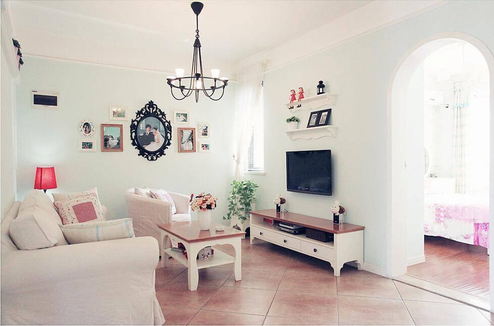 70平北欧风格两室一厅装修案例 装修方案 酷家乐高清图片