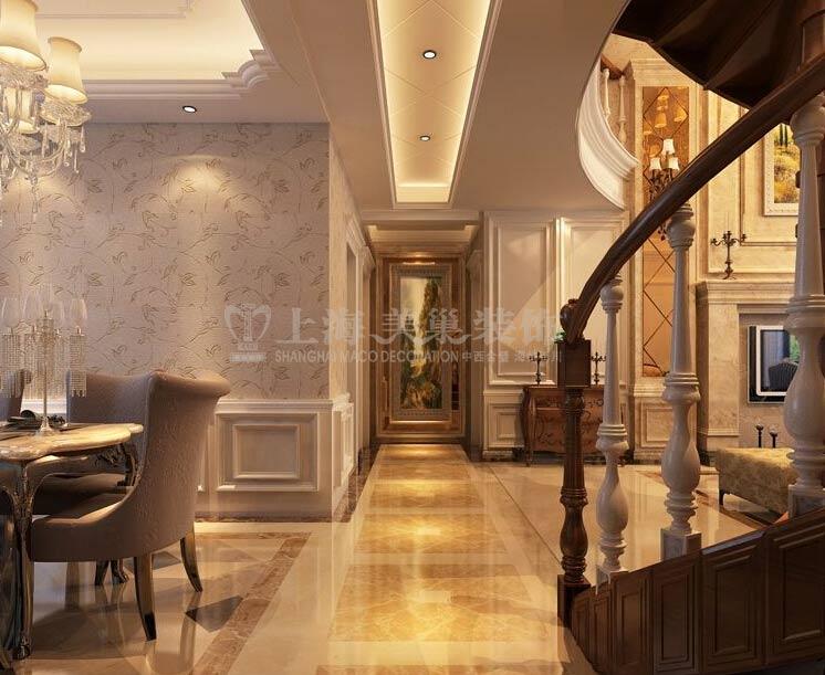 石膏线雕花完美搭配,每一个细节的完美设计,让这个欧式客厅更显尊贵.