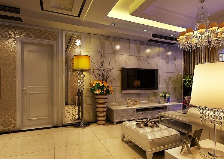 雅居乐国际花园139平三居室简欧风格装修效果图图片