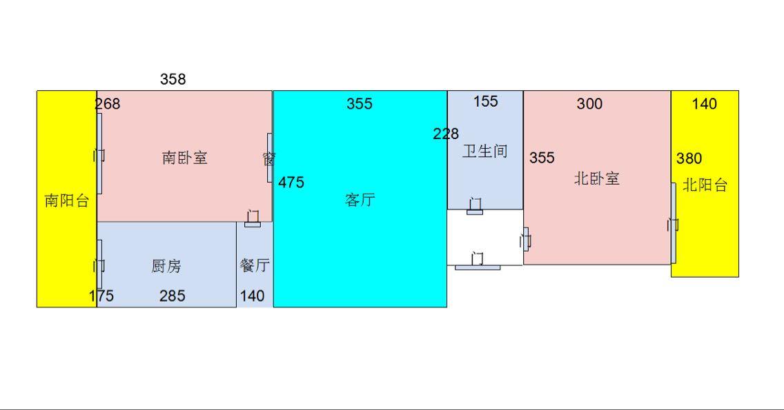 80平米两室一厅老房子