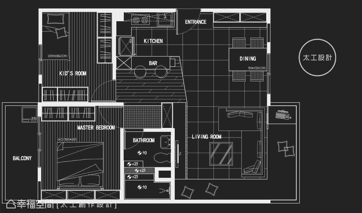 房间切割图黑色素材