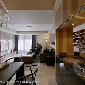 现代简约客厅隔断设计案例展示