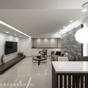 现代简约客厅背景墙设计案例