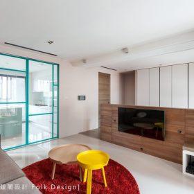现代简约客厅隔断沙发装修效果展示