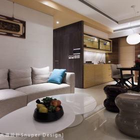 现代简约客厅收纳装修图