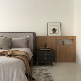 现代简约卧室收纳装修图
