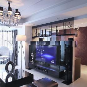 新古典客厅电视墙装修图