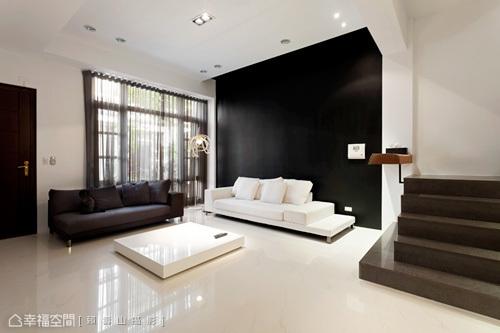 极简卧室黑色边框极简工业风卧室图片4