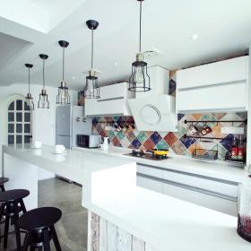 北欧厨房吧台案例展示
