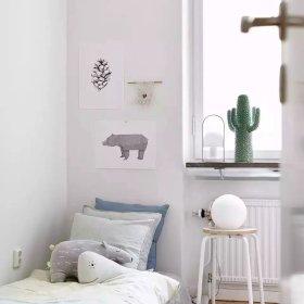 北欧卧室背景墙案例展示
