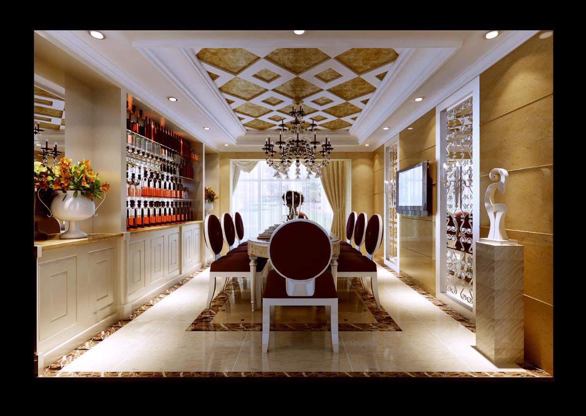小编推荐:【上海实创装饰】宝山区200平复式楼欧式风格装修设计