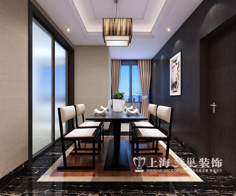 设计师根据业主的喜好将整体的装修风格定义为新中式,电视背景墙以图片