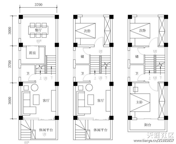 自建房室外车库设计平面图