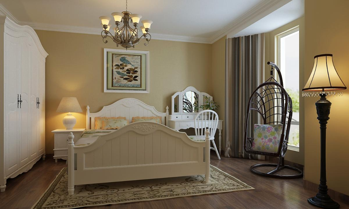 康桥金域上郡两居室田园风格装修设计案例效果图