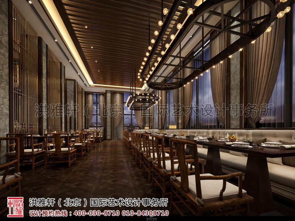 重庆酒店餐厅新中式装修风格——低沉奢华 纸醉金迷