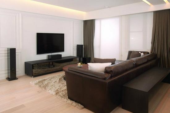 客厅电视墙装修图片   客厅电视墙装修图片7     木头材质的地板和