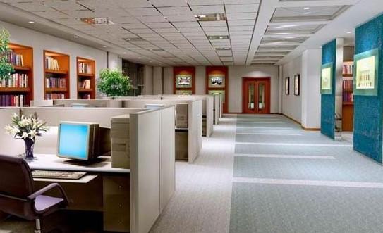 办公室内设计效果图 装修设计恰到好处