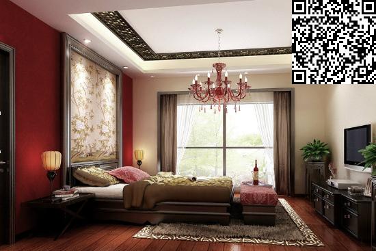 中式卧室背景墙装修效果图大全