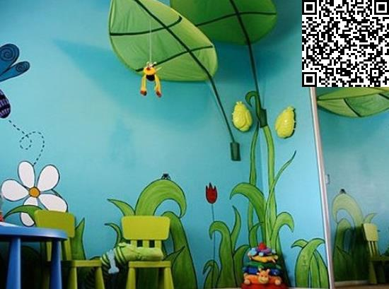 手绘墙画图案设计 达人家居装修diy