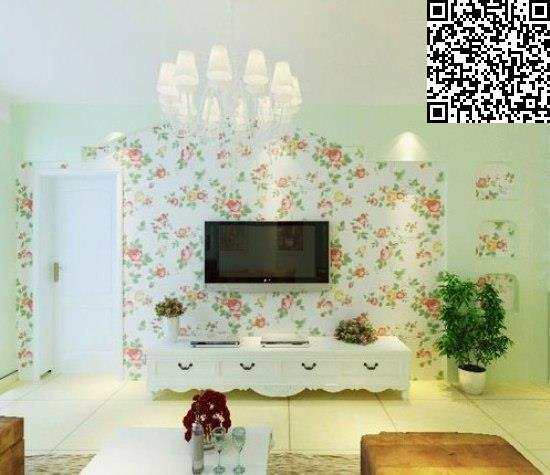 电视背景墙设计 壁纸形成新的视觉效果