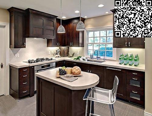 开放式厨房     原木色的使用图片