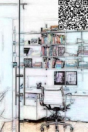 欧式书房手绘效果图