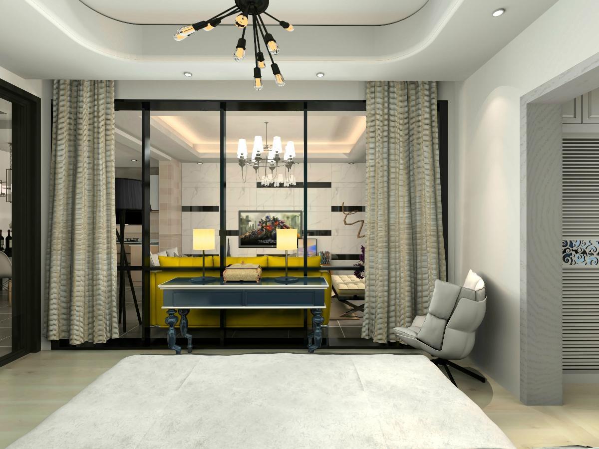 客厅电视背景墙吊死顶却装置嵌入式幕布匹投影,添加以壹个客厅和卧室邑能图片