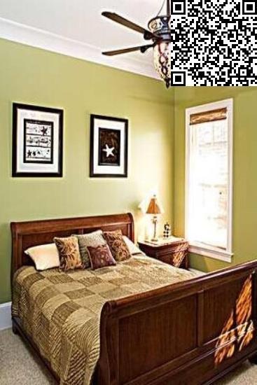 美式卧室床头背景墙效果图图片
