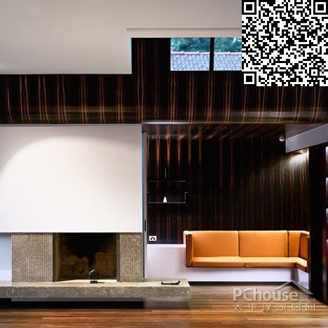 木纹墙面扩大层高 澳洲雕塑感造型别墅