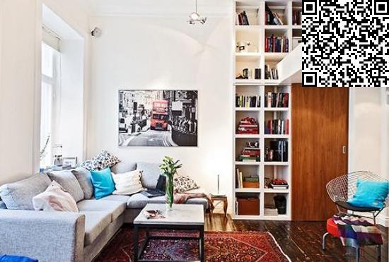 45平小复式楼装修 小情侣的专属空间图片