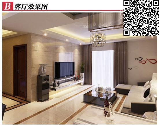现代时尚(客厅) 简约欧式(主卧) 主要用材 韩版墙纸,工艺玻璃,抛光砖