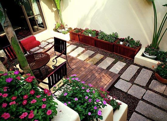 为你的庭院更添光彩 别墅庭院设计风水图片