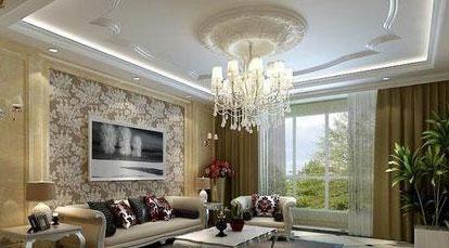 吊顶设计     简约欧式风格,吊顶典型欧式气质,造型也非常好看.