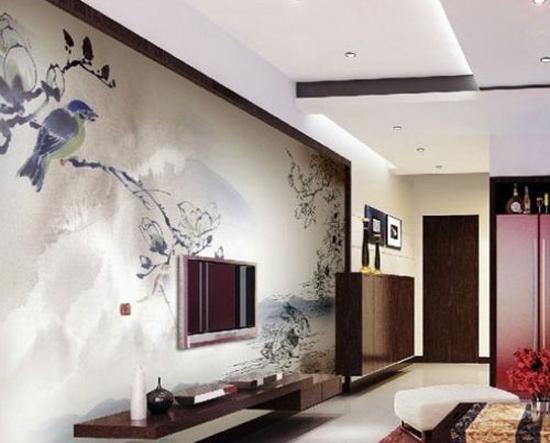 手绘唯美中国风 为家居增添美感背景墙