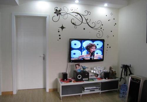 8式手绘电视墙 背景墙装修效果图