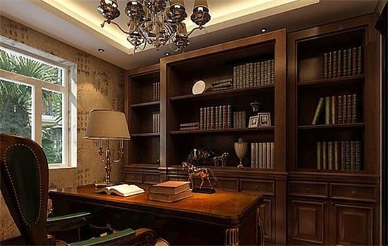 感受欧式风格 打造心仪舒心小书房!图片