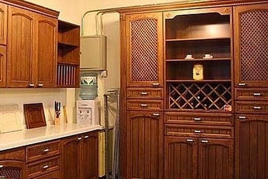 中式厨房整体厨柜设计推荐图片
