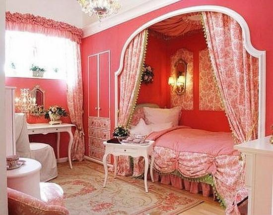深红色地板搭配什么颜色窗帘